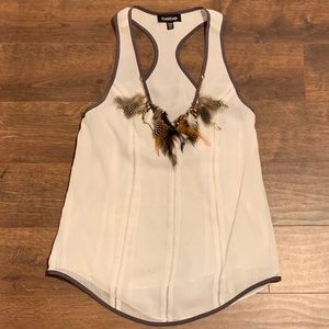 Bebe Feather Top